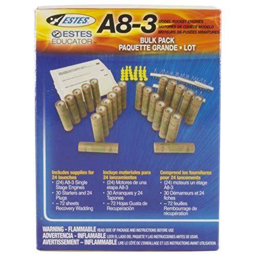 Estes Motor Flight Pack A8-3 24 Motors 1781