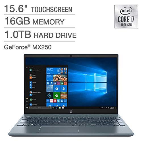 HP High Performance Pavilion 15-cs3073cl 15.6' Touchscreen Laptop - 10th Gen Intel Core i7-1065G7 - GeForce MX250 -16GB RAM - 1TB HDD - Backlit Keyboard- Fog Blue