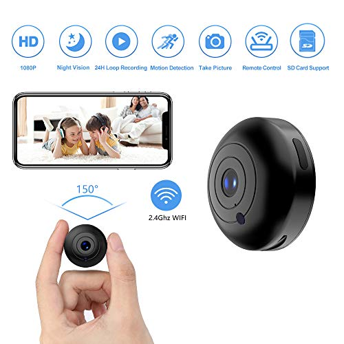 Mini Hidden-Camera WiFi-Spy Camera Wireless 1080P, Oucam Small Spy Cam Nanny Cam with Audio and Video Recording Micro Surveillance Camera for Live Stream/Night Vision/Motion Activated with Phone APP