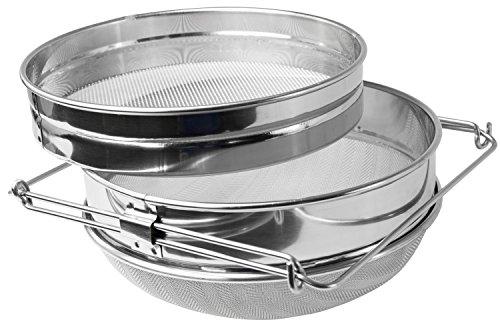 VIVO Stainless Steel Honey Strainer Double Sieve | Bee Keeping Equipment Filter (BEE-V101H)