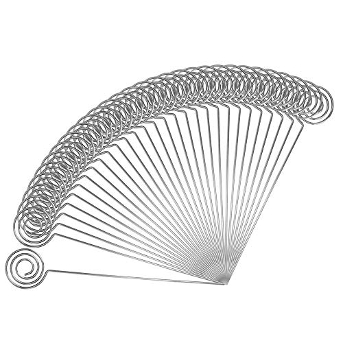 Ring Loop Round Shape Craft Wire Clip Table Card Holders Note Photo Picture Memo Holder for Party Birthday Office DIY Cake Topper Accessories Decoration,30 Pack Silver