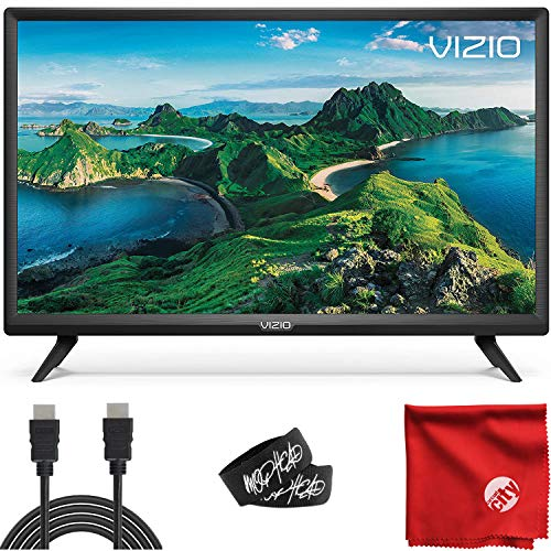 VIZIO D-Series 24-Inch Class 1080p Full HD LED Smart TV (D24F-G1) with Built-in HDMI, USB, SmartCast, Voice Control Bundle with XRYX 6.5 ft HDMI Cable and Accessories