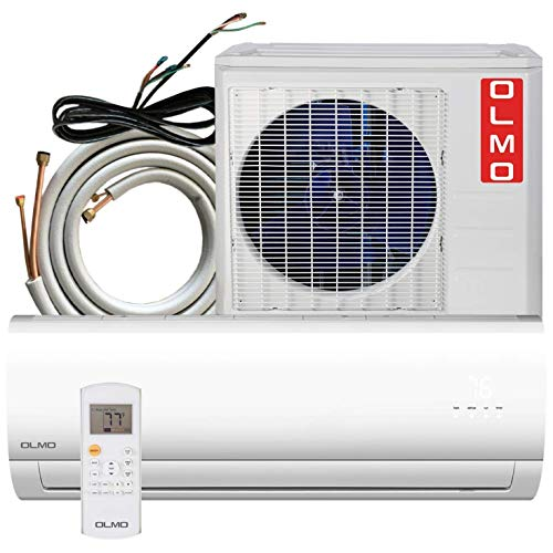 OLMO Alpic 24000 BTU Ductless Mini Split Air Conditioner Heating and Cooling with Heat Pump and Installation Kit 25ft Included
