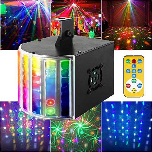 Disco Ball Lights Derby Party Lights SUPERNAL Sound Activated Multiple Modes With Remote Control Mini LED Stage Lights Projector For Club Wedding Holiday Bar KTV Karaoke Christmas Birthday Concert