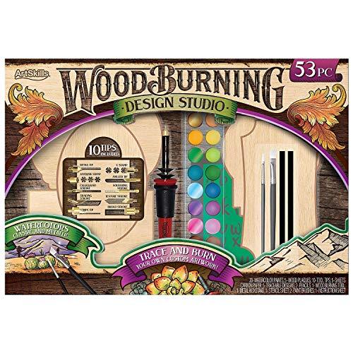 Wood Burning Kit, 53-Piece Set Trace and Burn Metallic Watercolor