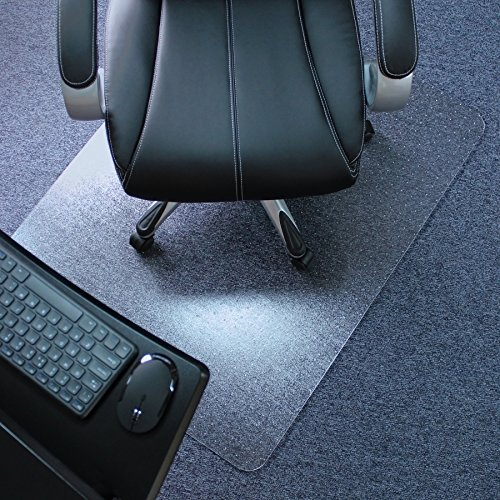 Marvelux 48' x 60' Heavy Duty Polycarbonate Office Chair Mat for Low, Standard and Medium Pile Carpeted Floors | Rectangular Transparent Carpet Protector | Multiple Sizes