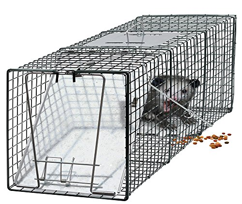 OxGord Live Animal Trap 24' x 7' x 7' Catch Release Humane Rodent Cage for Rabbits, Stray Cat, Squirrel, Raccoon, Mole, Gopher, Chicken, Opossum (Original Version)