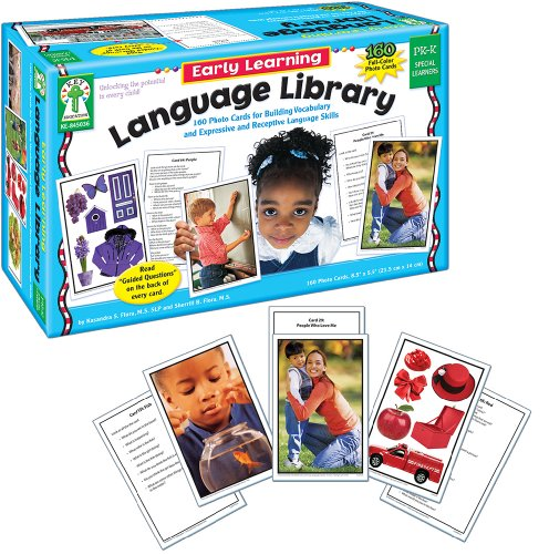 Carson Dellosa Key Education Early Learning Language Library Learning Cards (845036), 6' x 9.2' x 3.5'
