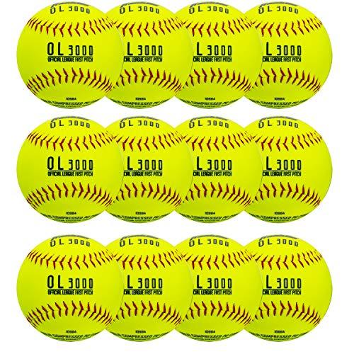 Franklin Sports 12' Tournament Play Fastpitch Softballs - 12 Pack
