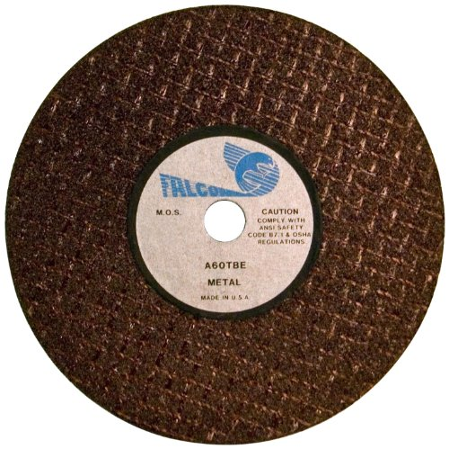 Falcon A60TBE Extra Tough Resinoid Bonded Double Reinforced Grinding and Snagging Abrasive Cut-off Wheel, Type 1, Aluminum Oxide, 1/4' Hub, 4' Diameter x 3/8' Thickness, 60 Grit  (Pack of 3)