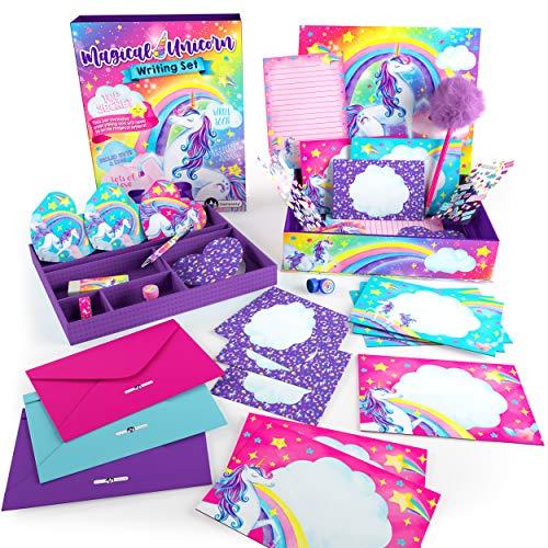 Original Stationery Unicorn Letter Writing Set, 45 Piece Stationery Set for Girls, Unicorn Gifts for Girls Age 10-12