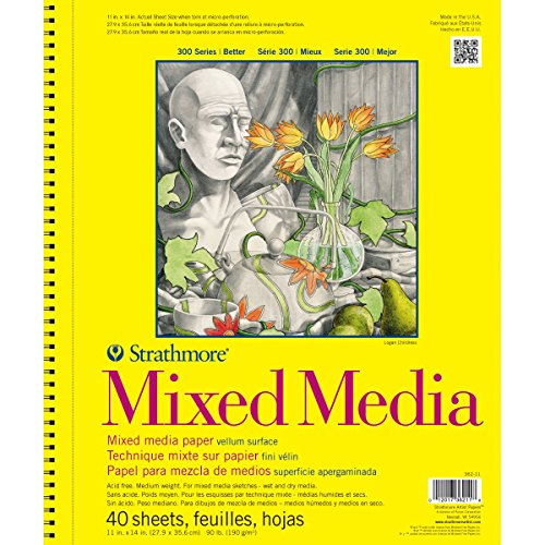 Strathmore (362-11) 300 Series Mixed Media Pad, 11'x14', 40 Sheets