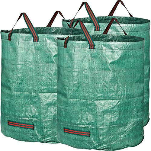 GardenMate 3-Pack 72 Gallons Reusable Garden Waste Bags (H30, D26 inches) - Yard Waste Bags