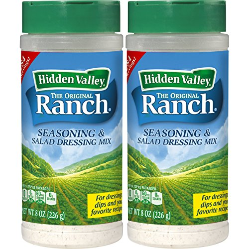 Hidden Valley Original Ranch Salad Dressing & Seasoning Mix, Gluten Free - 2 Canisters