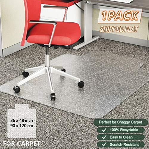YOUKADA Tile Packaging Chair Mat, Office Chair Mat for Carpet, Heavy Duty Desk Chair Mat, 86 x 109 cm/34 x 43 inches,1 Pack