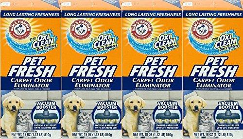 4 Pk, Arm & Hammer Pet Fresh Carpet Odor Eliminator Plus Oxi Clean Dirt Fighters