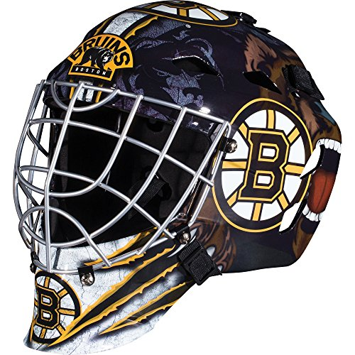 Franklin Sports NHL Boston Bruins Hockey Goalie Face Mask - Goalie Mask for Kids Street Hockey - Youth NHL Team Street Hockey Masks