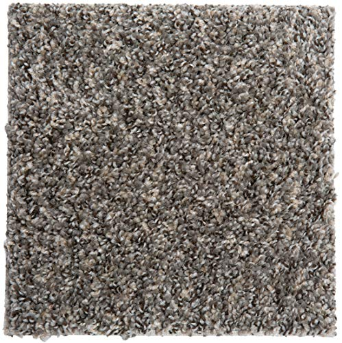 """SMART SQUARES in A Snap 18"""" x 18"""" Residential Soft Carpet Tile, Peel and Stick, Easy DIY Installation, Seamless Appearance, Made in USA (10 Tiles - 22.5 Sq Ft, Ironside)"""