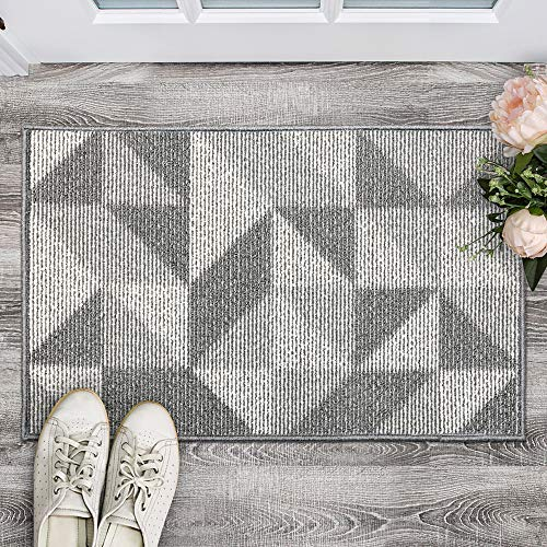 Indoor Doormat, Non Slip Absorbent Resist Dirt Entrance Rug, 20x32 Machine Washable Low-Profile Inside Floor Door Mat
