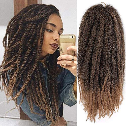 AISI BEAUTY Marley Hair Crochet Hair 3 Packs Braiding Marley Twist Hair 18' Synthetic Kinky Hair for Braiding Hair Mixed Color for Twists (18'' T1B-27)