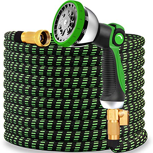 Expandable Garden Hose 2020 Updated Expanding Water Hose with 10 Function Water Spray Nozzle Lightweight Durable Flexible Watering Hoses for Garden Car Washing Strength