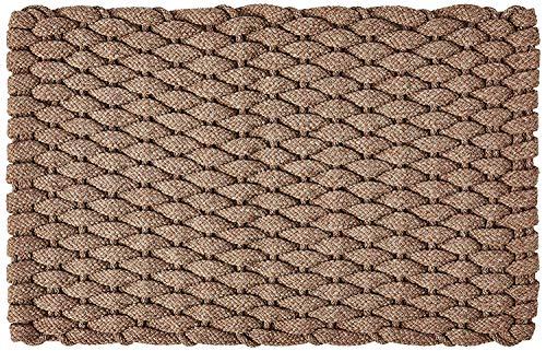 Rockport Rope Doormats 2034224 Indoor & Outdoor Doormats, 20' x 34', Tan