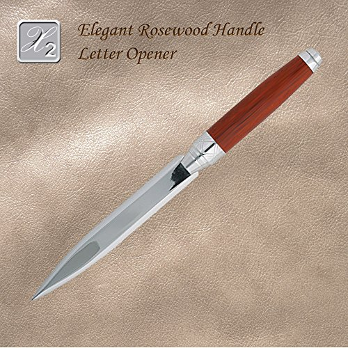 Elegant Luxury Rosewood Handle Letter Opener
