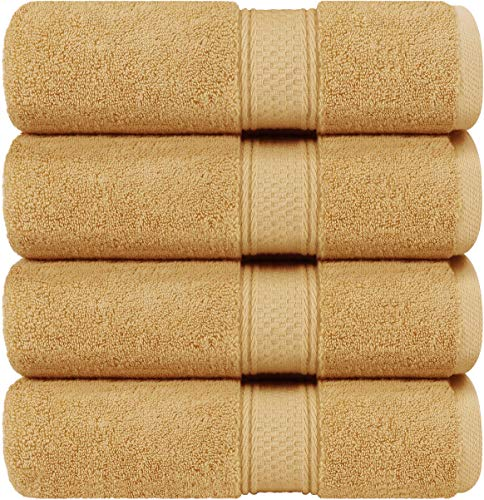 Utopia Towels - Bath Towels Set, Beige - Luxurious 700 GSM 100% Ring Spun Cotton - Quick Dry, Highly Absorbent, Soft Feel Towels, Perfect for Daily Use (4-Pack)