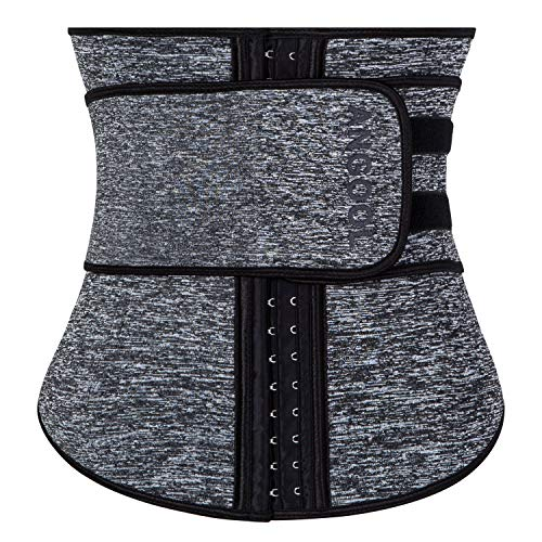 TWINS FLAME Women's Waist Trainer Sauna Belt Hourglass Shaper Neoprene Sweat Corset for Weight Loss
