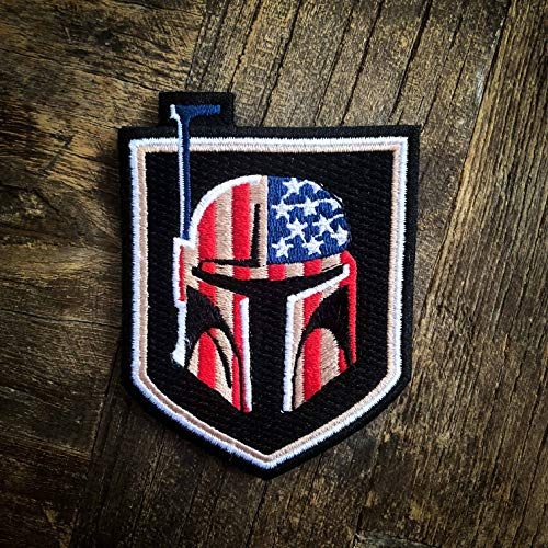Bounty Hunter US Flag 100% Embroidered Morale Patch – Hook Backed by NEO Tactical