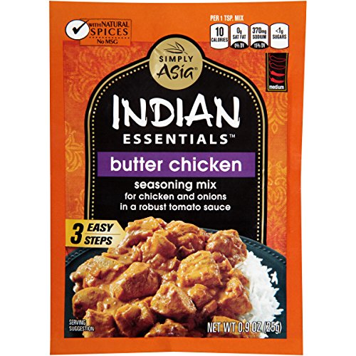Simply Asia Indian Essentials Butter Chicken Seasoning Mix, 0.9 Ounce (Pack of 12)