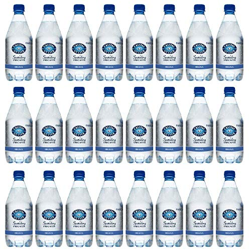 Crystal Geyser 18 oz Original Sparkling Spring Water 24 Pack, PET Plastic Bottles, Zero Calorie, No Artificial Ingredients or Sweeteners